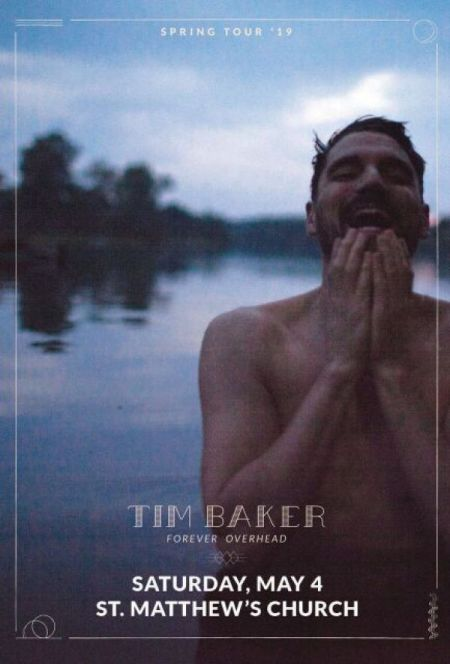 TIM BAKER at St. Matthew's United Church Fri May 3 2019 at 8:00 pm